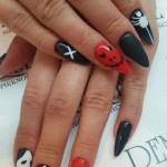 Halloween Nails by Magdalena, CH Arkadia żel na szablonie