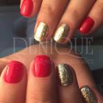 czerwień ze zdobieniem 7 Julia manicure hybrydowy